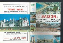 GUIDE LA SAISON À SAINT MALO DINARD & SUR LA COTE D EMERAUDE & PLAN PUBLICITÉS : - Dépliants Touristiques