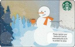 Thailand Starbucks Card  Snowman - 2012-6079 - Gift Cards