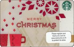 Thailand Starbucks Card  Merry Christmas - 2013-6089 - Gift Cards