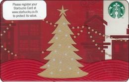 Thailand Starbucks Card  Mery Christmas  2013-6089 - Gift Cards