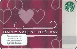 Thailand Starbucks Card  Valentines Day - 2013-6093 - Gift Cards
