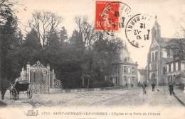 CPA  Saint-Germain-lès-Corbeil L' église Et De Porte Du Château - Corbeil Essonnes