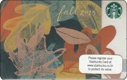 Thailand Starbucks Card   Leaves - 2015-6112 - Gift Cards