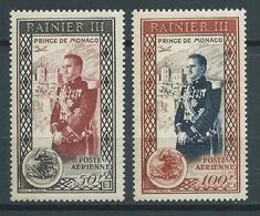MONACO 1950. Poste Aérienne N°s 49 Et 50 . Neufs ** (MNH) - Poste Aérienne