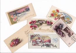Lot De 21 Ravissantes Petites Cartes Illustrées Bonne Année, Années 1930-1950 - Nouvel An