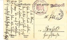 Feldpostkarte Avec Cachet RESERVE - LAZARETT * WEYERSHEIM * + TàD WEYERSHEIM DU 1.12.14 Adressée à Benfeld - Alsace Lorraine