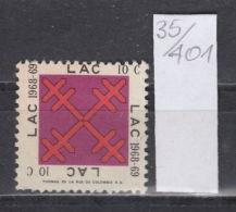 35K401 / LAC 10 C. 1968 - 69 , REVENUE CINDERELLA LABEL VIGNETTE , THOMAS DE LA RUE DE COLOMBIA S.A. Tuberculosis - Cinderellas