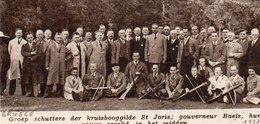 """Origineel Knipsel ( 1429 ) Uit Tijdschrift """" Ons Volk """" : Kruisbooggilde Tir à L' Arc Boogschieten Brugge Bruges 1937 - Tir à L'Arc"""