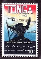 TONGA 1994 Scary Guy In The Sea 10s SPECIMEN - Tonga (1970-...)
