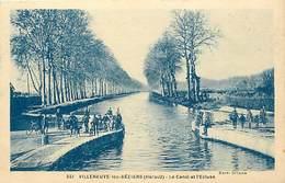 - Dpts Div -ref ZZ786- Herault - Villeneuve Les Beziers - Canal Et Ecluses - Canaux - Ecluses - Edit. Riviere Bureau - - France