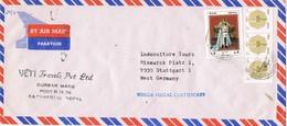 29107. Carta Aerea KATHMANDU (Nepal) 1988.  YETI Travels - Nepal