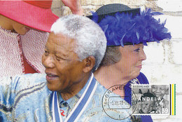 D34531 CARTE MAXIMUM CARD RR 2013 NETHERLANDS - POSTMARK >> DATE OF DEATH NELSON MANDELA - NOBEL PRIZE PEACE CP ORIGINAL - Nobel Prize Laureates