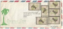Jamaica Doctor Bird Jamaican Mango Birds C10x6pcs Simple Franking AirmailCV Negril 3nov1980 X Italy - Hummingbirds