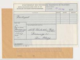 (Nood)- Douaneverklaring Briefpostzending Den Haag 1969 - Periode 1891-1948 (Wilhelmina)