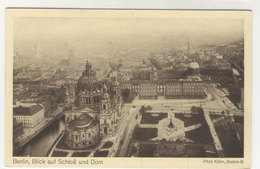 Berlin Blick Auf Schloss Und Dom Luftschiff Postkarte Zeppelin - Mitte