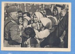 Fascismo -  Mussolini  Tra Le Donne  -  Frase Sul Retro  F.G. - People