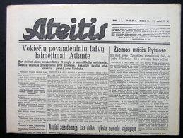 1944.01.05 Lithuania WW II/ Newspaper/ Ateitis No. 3 (306) - Boeken, Tijdschriften, Stripverhalen