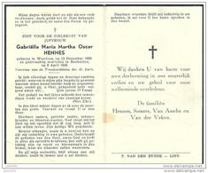 BONHEIDEN ..-- 1929 >> 1949 . WAARLOOS . Juffrouw Gabriëlle HENNES . - Bonheiden