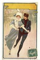 Carte Postale Ancienne Illustrateur Will.... - Dinan Rink 1911 - Patinoire De Dinan, Skating - Illustrateurs & Photographes