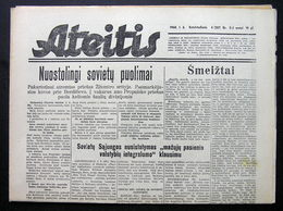 1944.01.06 Lithuania WW II/ Newspaper/ Ateitis No. 4 (307) - Boeken, Tijdschriften, Stripverhalen