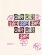 MONACO 1956 FEUILLE 1ER JOUR  FDC - FDC