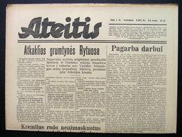 1944.01.12 Lithuania WW II/ Newspaper/ Ateitis No. 9 (312) - Boeken, Tijdschriften, Stripverhalen