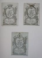 Lot De 3 Ex-libris Français Aux Initiales AF - XVIIIème - Alexis FOISSEY A DUNKERQUE - Ex Libris