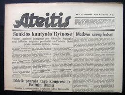 1944.01.14 Lithuania WW II/ Newspaper/ Ateitis No. 11 (314) - Boeken, Tijdschriften, Stripverhalen