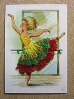 Carte Brodée, Fille Danseuse Classique, Mary May - Borduurwerk