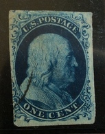 STATI UNITI ONE CENT  FRANKLIN  1851-7   BB - Used Stamps