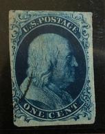 STATI UNITI ONE CENT  FRANKLIN  1851-7   BB - 1847-99 Emissioni Generali