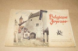 EXPO 58 ,Exposition Bruxelles 1958,RARE,Belgique Joyeuse,illustrations Herman Verbaere,24/17 Cm. - Obj. 'Herinnering Van'