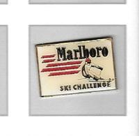 Pin's  Sport  SKI  CHALLENGE  Avec  MARLBORO  Marque  Vetements  Verso  Marlboro  Leisure  Wear - Winter Sports