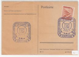 Austria, 2 Jahre Briefmarkenplauderei Der Sendergruppe Alpenland 1947 Special Pmk On Postkarte B180715 - 1945-.... 2nd Republic
