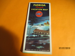 Carte Routiére/GULF/Tourgide Map/usa/FLORIDA/ Vacation Map/CUBA/ St Petersburg/ Rand Mc Nally& Co/Chicago/1950    PGC230 - Cartes Routières