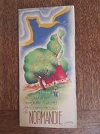 Normandie Illustré Par Scrépel - Cherbourg Isigny Coutances Alençon Chartres Saint Valéry Fécamp Dieppe Barfleur SNCF - Dépliants Touristiques