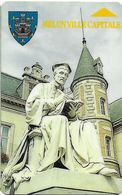 CARTE DE STATIONNEMENT  BANDE MAGNÉTIQUE VILLE DE MELUN 77 SEINE ET MARNE - Francia