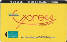 CARTE DE STATIONNEMENT  BANDE MAGNÉTIQUE VILLE DE PERIGEUX 24 DORDOGNE - Francia