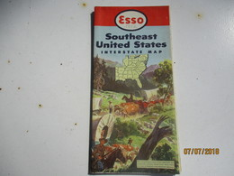 Carte Routiére/ESSO Standard Oil Co /Interstate Map/usa/SOUTHEAST UNITED STATES/General Drafting New York/1952    PGC233 - Cartes Routières