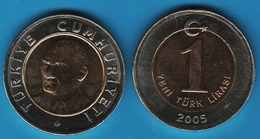 TURKEY 1 LIRA 2005 KM# 1169 - Turkey
