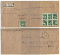 Nigeria Reg.CV Egborode Sapele 8nov1962 X UK With Oyo Carver D3 In Block6 +1 - Nigeria (1961-...)