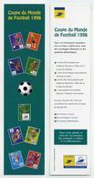 Marque-page Pub La Poste Timbres Stades Coupe Du Monde De Football 1998 - Marque-Pages