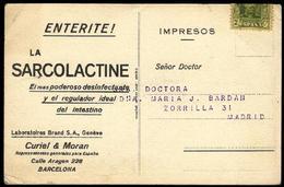 Tarjeta Postal. Publicidad LA SARCOLACTINE - Publicidad