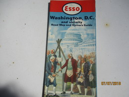 Carte Routiére/ESSO Standard Oil Co/WASHINGTON DC And Vicinity/Visitor'sGuide/General Drafting & Co New York/1952 PGC233 - Cartes Routières