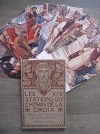 Pochette Originale 14 Cpa René Cramer - Stations Du Chemin De Croix - Belgique Marette - Jésus Passion Christianisme - Jésus