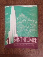 Saint Nectaire Illustré Par Valerio - Thermes, Casino, Tennis, Parc Du Dolmen, Lac Chambon, Eau Granges - Lixivia - Dépliants Turistici