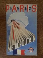 1937 Carte / Plan Du Métropolitain De Paris Et De L'Exposition - Tarifs - Lignes Et Stations - Métro, Chemin De Fer - Cartes