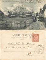D- [510470] Carte-France  - (74) Haute-Savoie, Le Mont-Blanc, Vue De Saint-Nicolas-de-Véroze - Francia