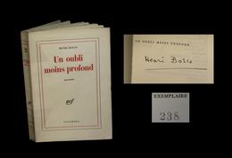[ENVOI DEDICACE AVIGNON] BOSCO (Henri) - Un Oubli Moins Profond. EO. 1/100. - Livres Dédicacés