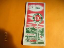 Carte Routiére/Sinclair Gasoline / ILLINOIS / USA//Rand Mc Nally & Co Chicago/1950           PGC228 - Cartes Routières